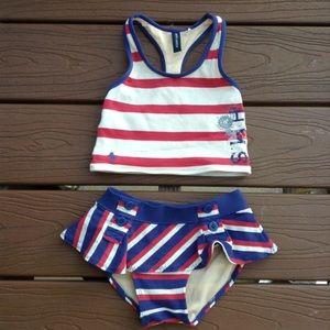 RALPH LAUREN tankini swimsuit swim suit 4 5 (E4)
